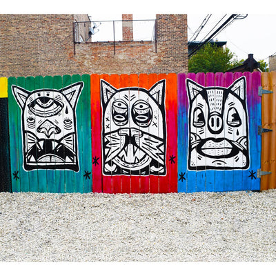 "PakRat Ink ""Patio Dweller 3"" Mural by Jaymes Josef"
