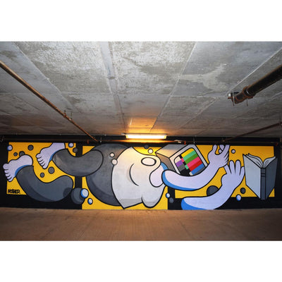 "PakRat Ink ""Book Learnin'"" Mural by Mosher"