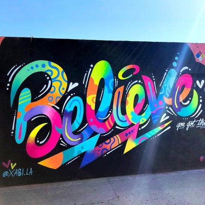 "PakRat Ink ""Believe"" Mural by Jason Naylor"