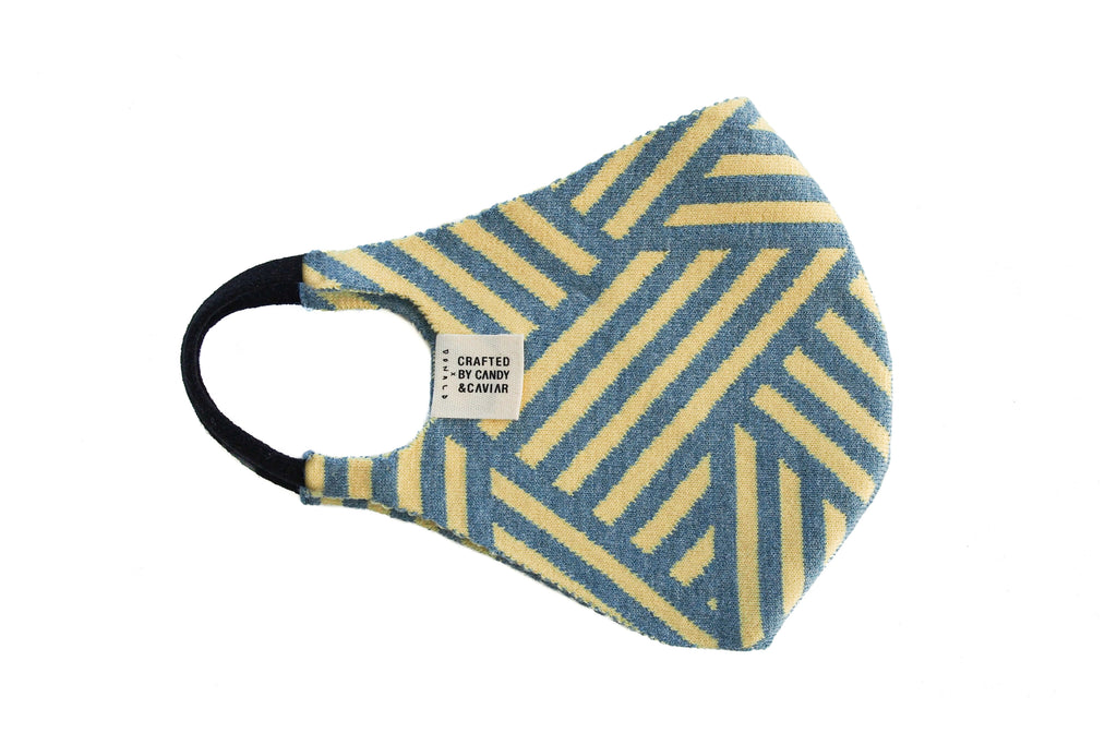 CANDY&CAVIAR x Donald Robertson Jacquard Knit Mask (Blue/Yellow)