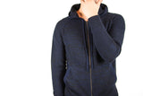 Men's Navy/black Cashmere Zip Hoodie