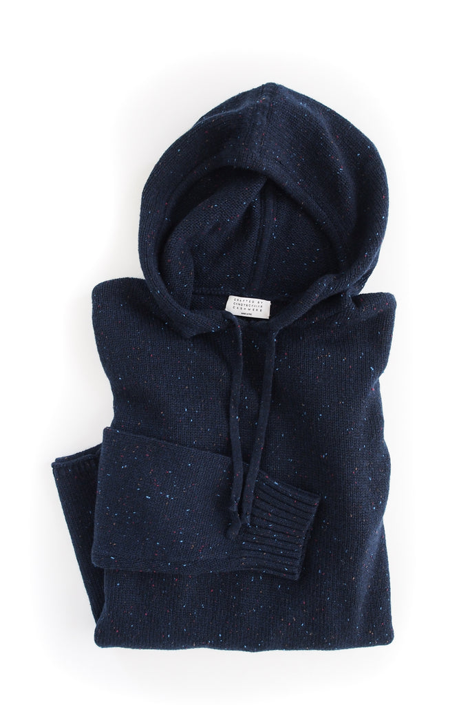 Cashmere Pullover Hoodie (Milky Way)