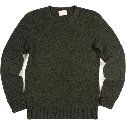 Men's Army Green Cashmere Crew