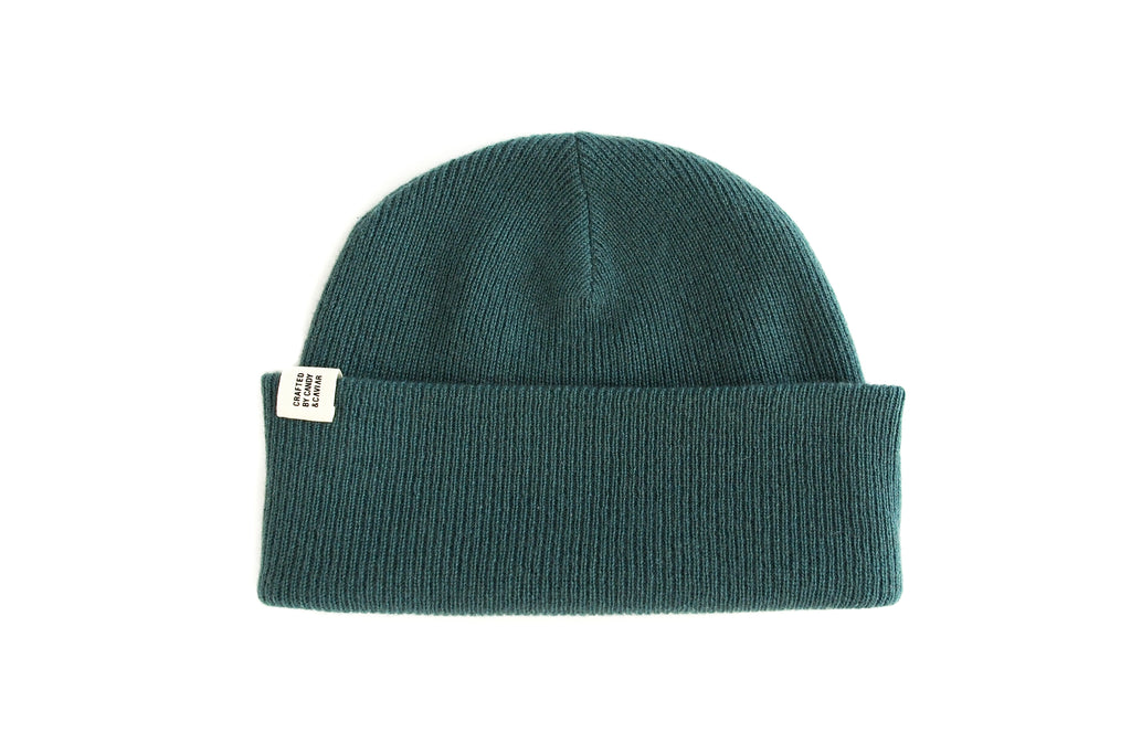 Ribbed Cashmere Beanie (Hunter Green)
