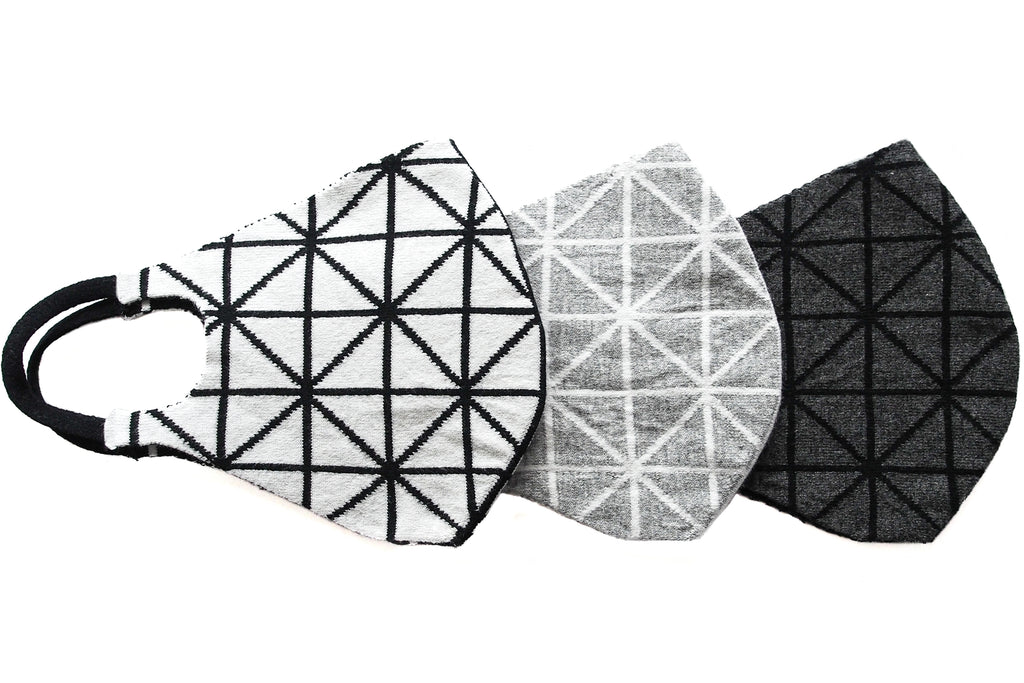 Geometric Reversible Jacquard Knit Mask (3 Pack Bundle)