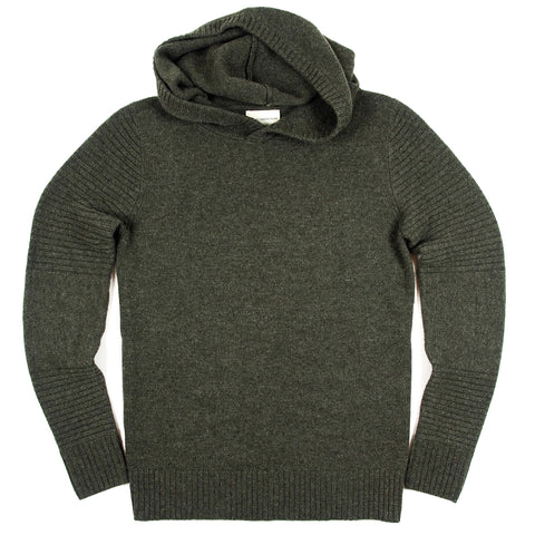 Women's Army Green Cashmere Pullover Hoodie