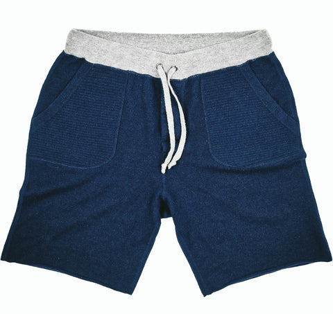 Men's Navy Cashmere Sweatshorts
