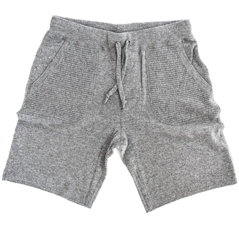 Men's Solid Grey Cashmere Sweatshorts