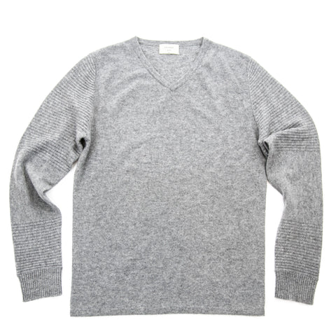 Men's Grey Cashmere Vneck