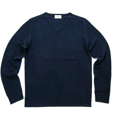 Men's Navy Cashmere Vneck