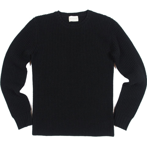Women's Black Cashmere Waffle Thermal