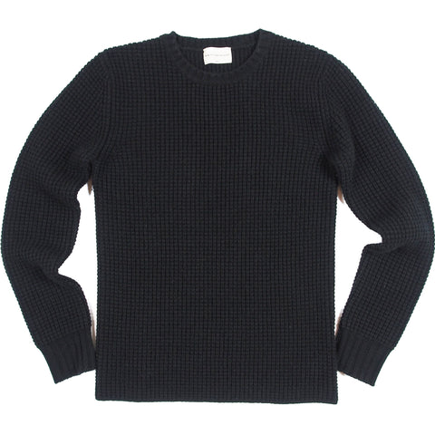 Men's Black Cashmere Waffle Thermal