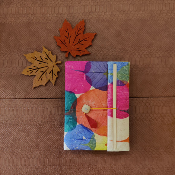 Multi-color Peepal Leaves Journal