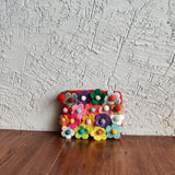 Floral Cluster Geometric Pouches