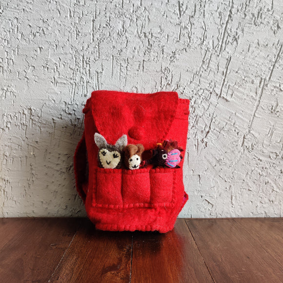 Finger Puppet Backpacks
