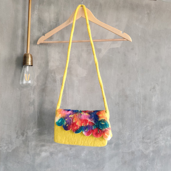 Felt Graffiti Sling Bag