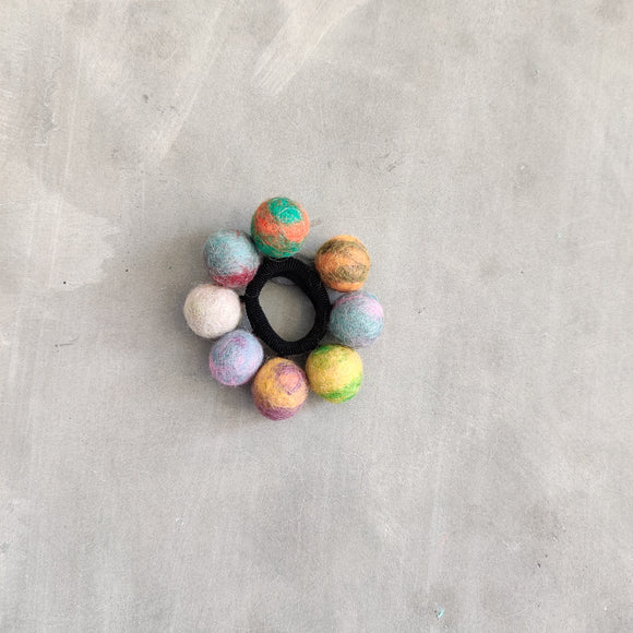 8 Felt Ball Rubber Band