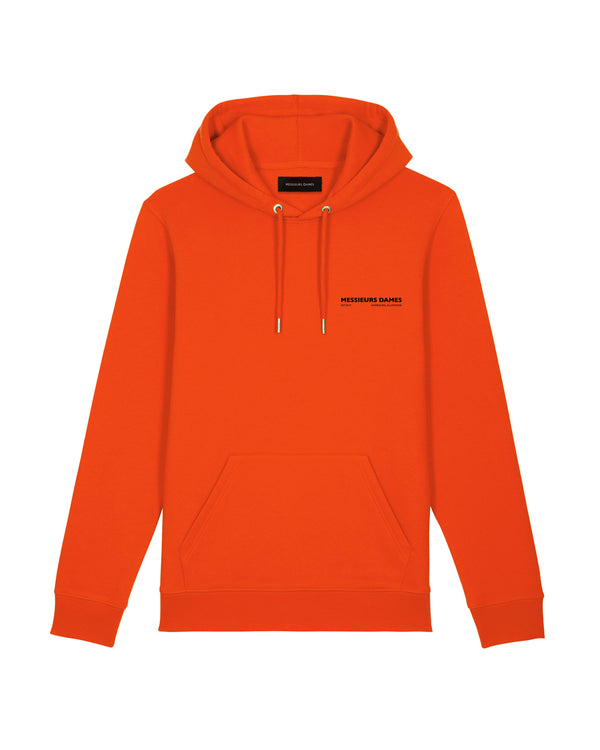 You And Me Sculpture Hoodie Tangerine