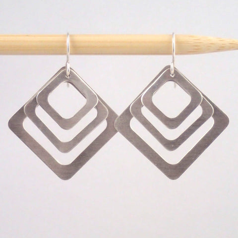 Third Base earrings in Silver