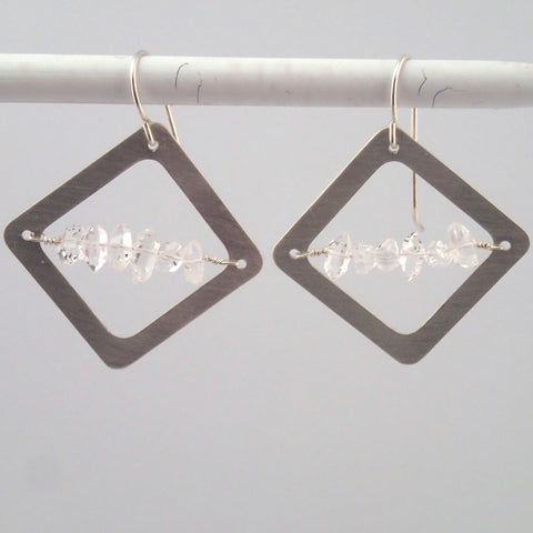 Herkimer Diamond earrings in Silver