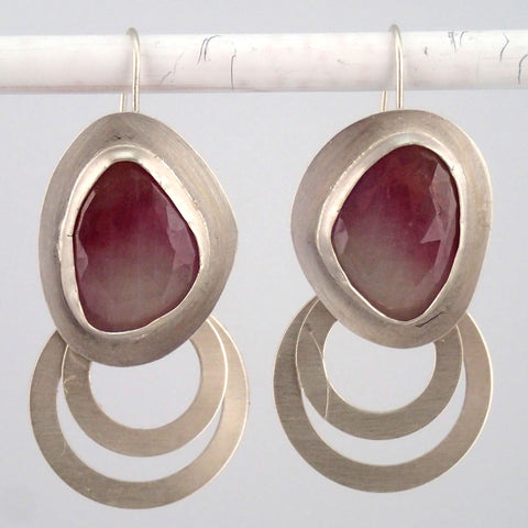 Bicolor Sapphire Hoopla Earrings