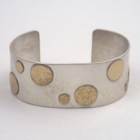 Silver Scattered Dots Cuff Bracelet