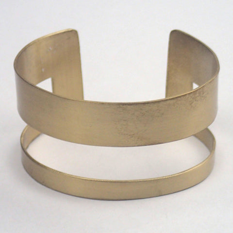 Brass Rectangle Cuff Bracelet