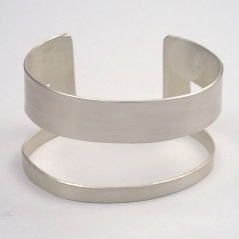 Silver Rectangle Cuff Bracelet