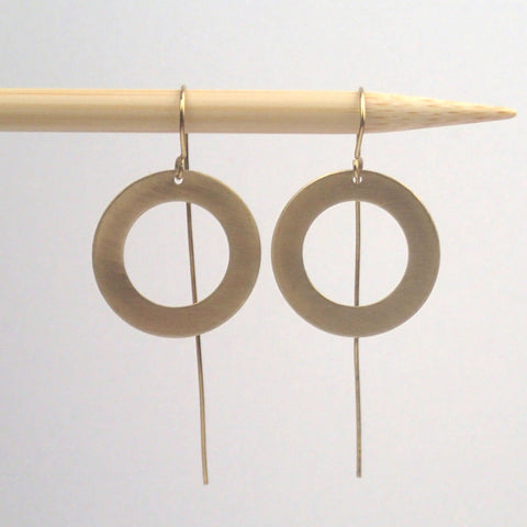 Small brass one ring earrings