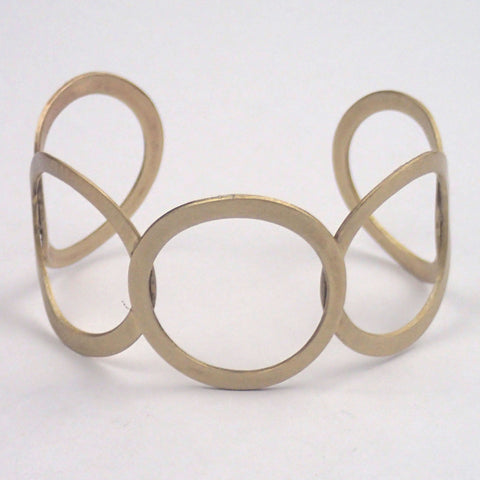 Brass Five Rings Cuff Bracelet