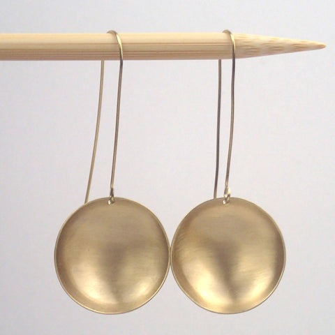 "Large brass ""saucer"" earrings"