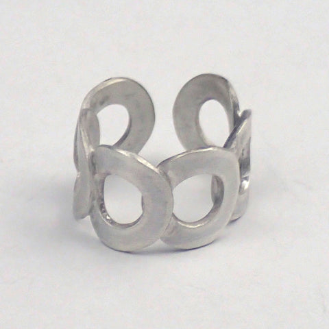 Silver Six Rings Adjustable Ring