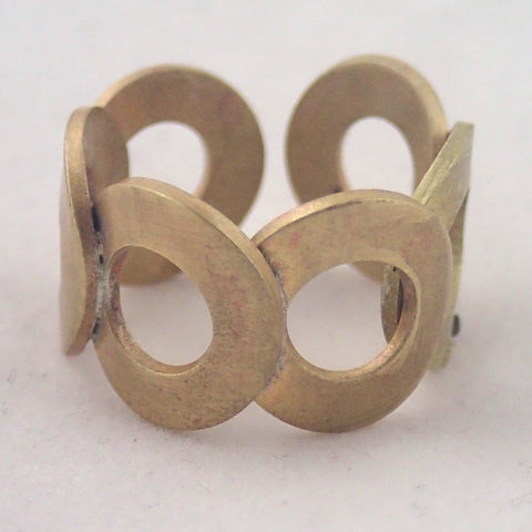 Brass Six Rings Adjustable Ring