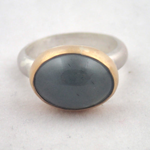 Moss Aquamarine Oval Ring