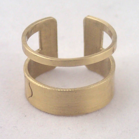 Brass Rectangle Finger Cuff