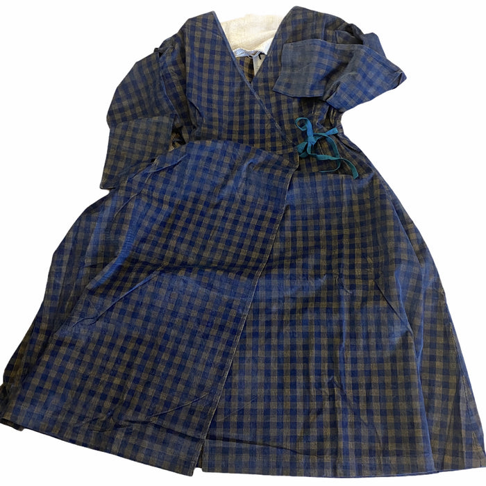 Spencer dress - baby cord check