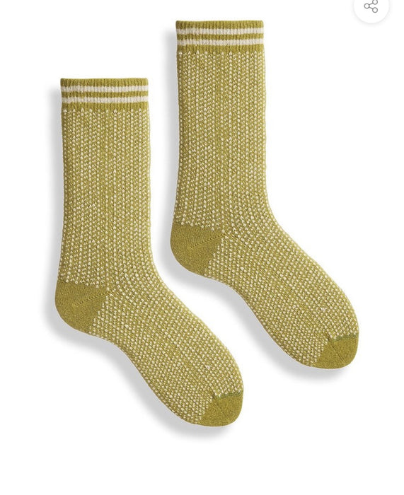Nordic medallion wool sock