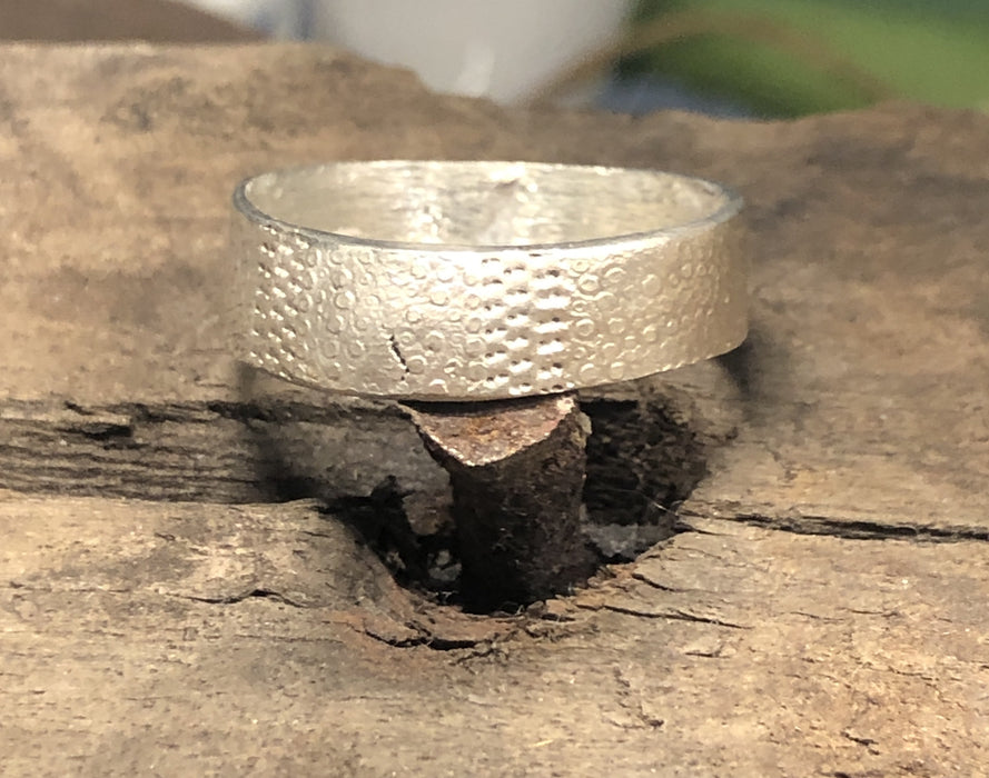 Man ring - urchin band in silver
