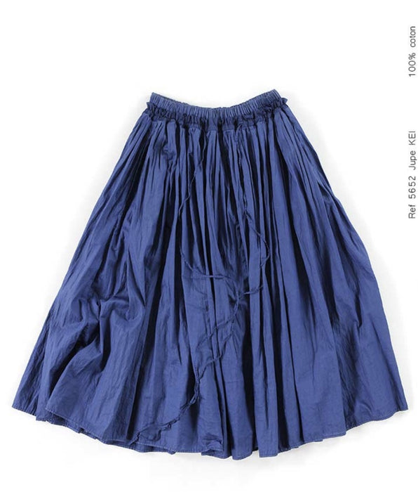 Cotton gathered skirt  KEY