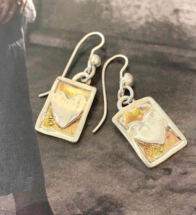 Postcard from the heart earrings