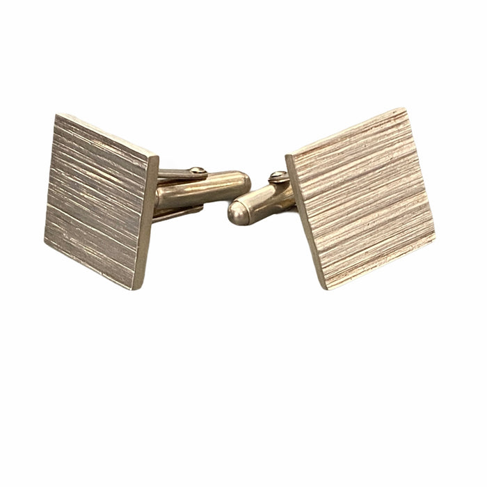 Cufflinks silver square textured