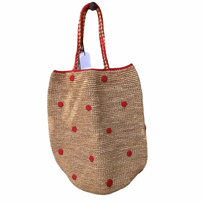 Madrague basket with small red dots