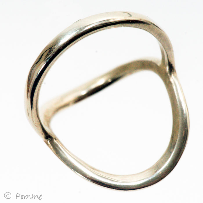 Silver 'saddle' ring