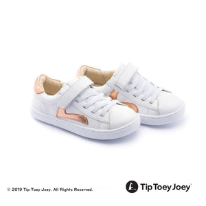 Tip Toey Joey Little Skid - White/Copper