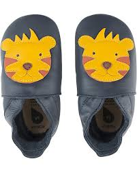 Bobux Soft Soles Tiger - Navy