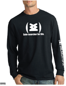 Sole Searcher - Black Long Sleeve