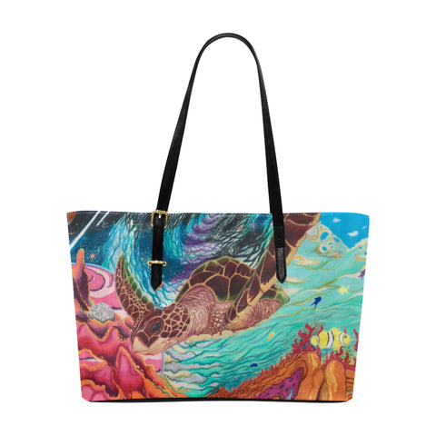 Galactic Sea Turtle-Tote Bag