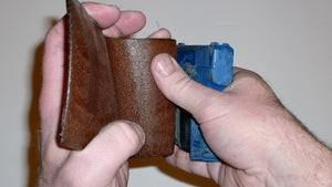 Wallet style top covered back pocket holster for licensed concealed weapon carry of Kahr P380