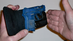 Wallet style top covered back pocket holster for licensed concealed weapon carry S&W M&P Bodyguard