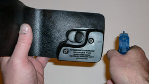 Wallet style top covered back pocket holster for licensed concealed weapon carry of Sig Sauer P238
